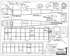Donald fixed model airplane plan