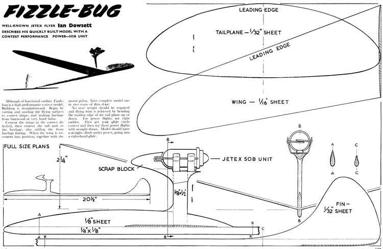 Fizzlebug model airplane plan