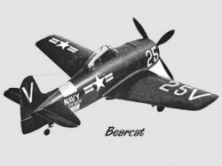 Grumman F8F-2 Bearcat model airplane plan