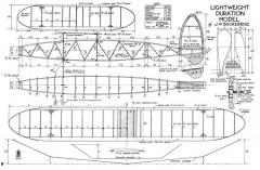 Lightweight Duration Model model airplane plan