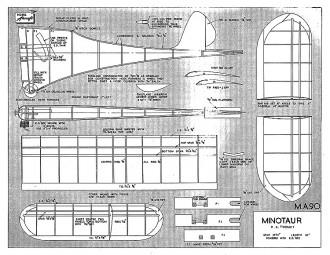 Minotaur MA FEB 51 model airplane plan