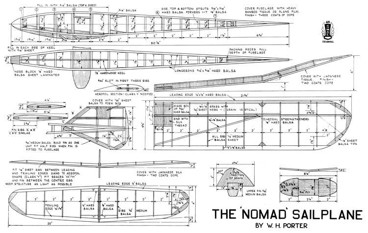 Nomad 46in model airplane plan
