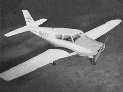 Piper Comanche model airplane plan