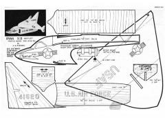 Ryan X-13 model airplane plan
