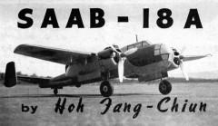 Saab 18A model airplane plan