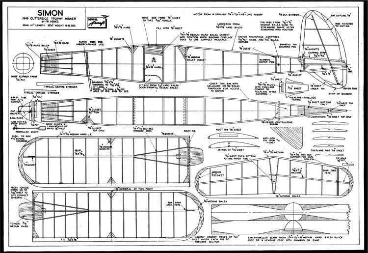 Simon model airplane plan