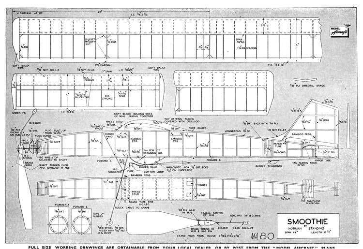Smoothie model airplane plan