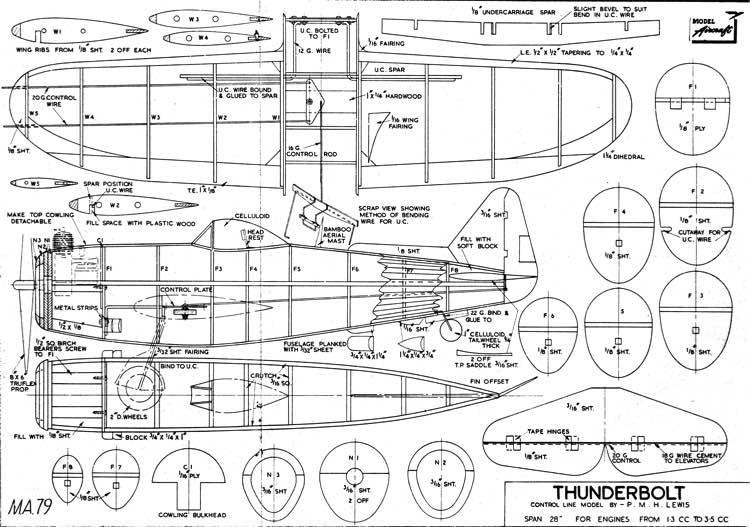 Thunderbolt model airplane plan