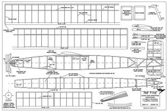 Tyke Wake redrawn model airplane plan