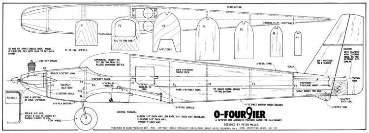 0 Four9ier model airplane plan