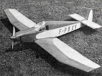 Bebe Jodel model airplane plan