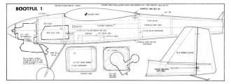 Bootful 1 model airplane plan