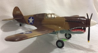 Curtiss P 40 Warhawk model airplane plan