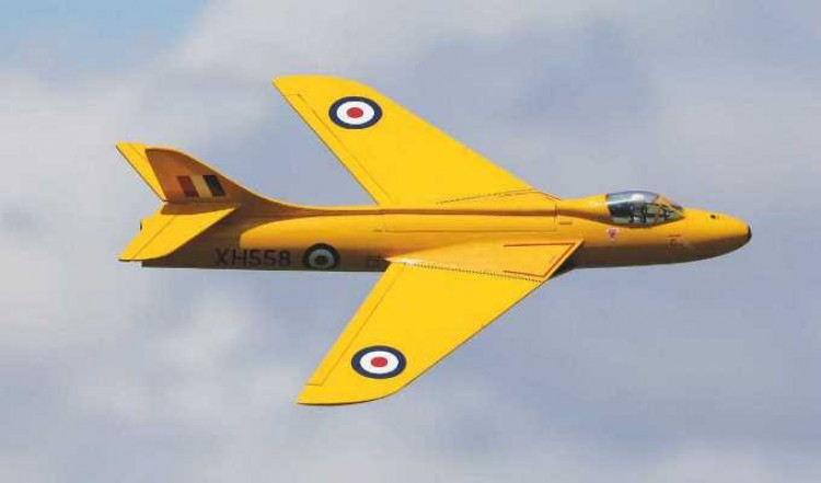 Hawker Hunter model airplane plan