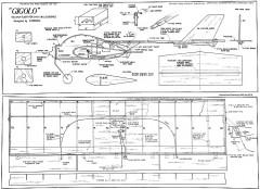Gigolo model airplane plan