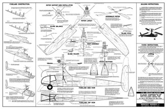 Cloud Copter D-2 model airplane plan