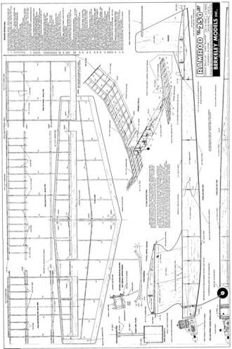 Ramrod 250 Berkeley model airplane plan