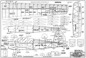 Schweizer SA 1-30 model airplane plan