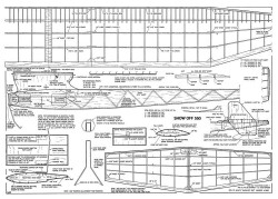 Show Off 550 model airplane plan