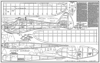 Super Sinbad model airplane plan