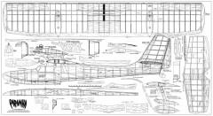Piranha model airplane plan