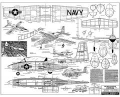 Temco Pinto 1320mm span model airplane plan