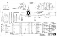 Aichi Type 97 D3A-1 Val model airplane plan