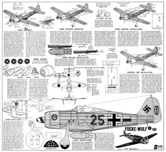 Focke-Wulf 190 model airplane plan