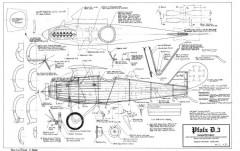 Pfalz D3 model airplane plan