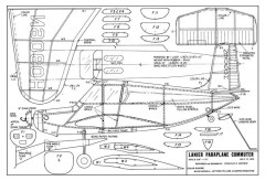 Lanier Paraplane Commuter 110 model airplane plan