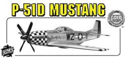 P51-D MUSTANG model airplane plan