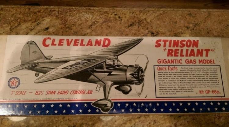 Stinson Reliant Monoplane model airplane plan