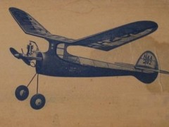 Aero Champ Megow 45in model airplane plan