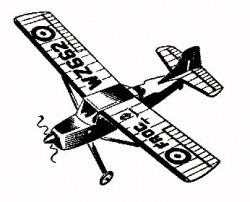 Auster AOP 9 model airplane plan