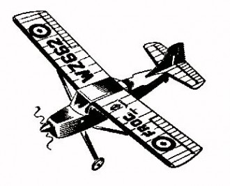 Auster AOP 9 model airplane plan