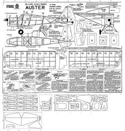 Auster model airplane plan