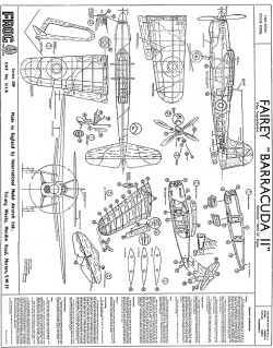 Fairey Barracuda II model airplane plan