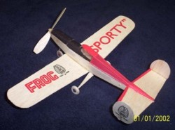 Sporty model airplane plan