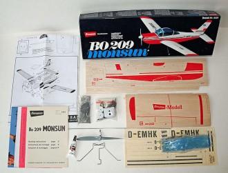 Monsun BO 209 model airplane plan