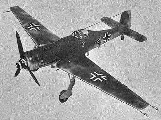 Focke-Wulf TA 152 H-1 model airplane plan