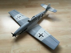 Messerschmitt Bf 109E-7 model airplane plan