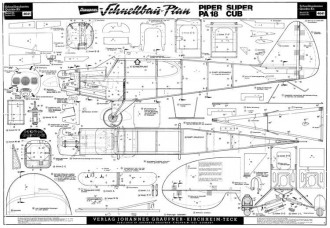 Piper PA-18 Super Cub model airplane plan