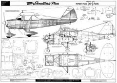Piper PA22 Tri Pacer Bauplan model airplane plan