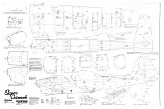 Super Chipmunk Kyosho Graupner Deskewed model airplane plan
