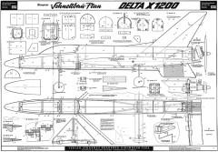 delta_x1200_graupner model airplane plan
