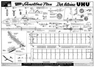 Der Kleine UHU model airplane plan