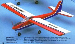 Trend 35 model airplane plan