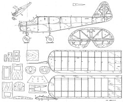Hegi Frechdax model airplane plan