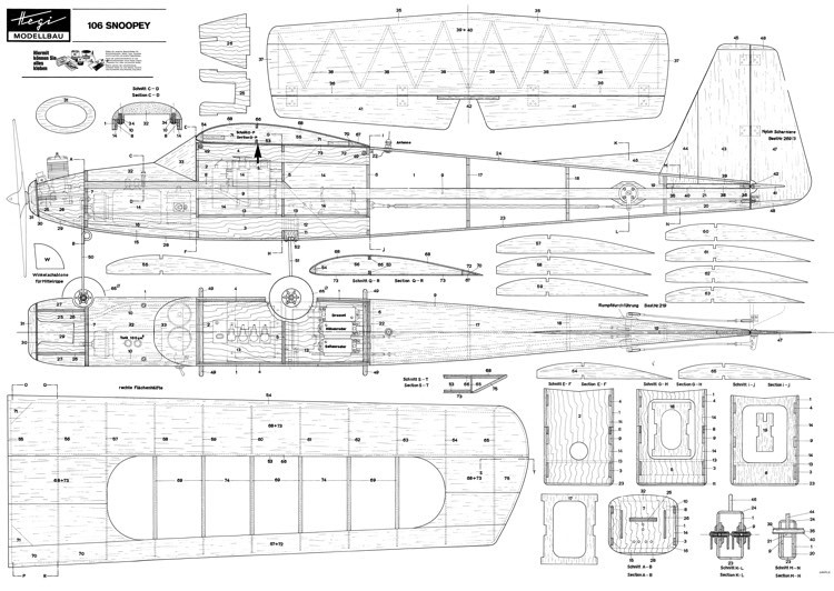 Snoopey model airplane plan