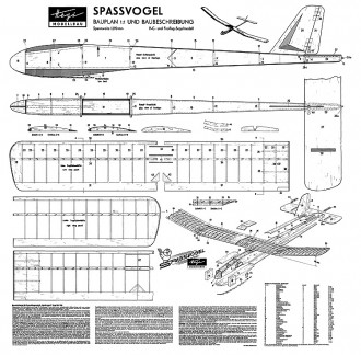 Hegi Spassvogel model airplane plan